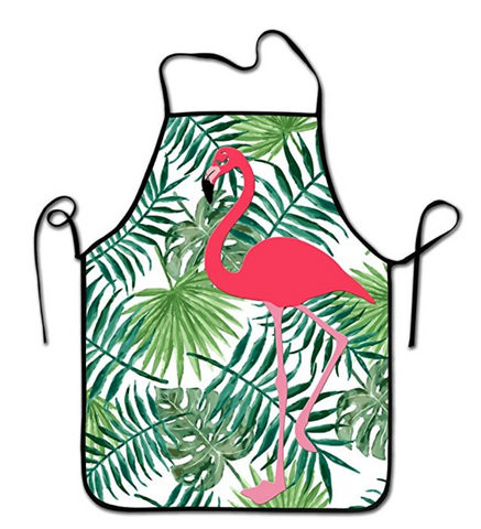 Cute Flamingo Kitchen Apron