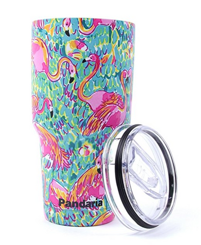 Flamingo Stainless Steel Insulated Tumbler with Lid