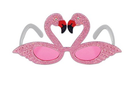 Glittered Flamingo Frame Party Accessory