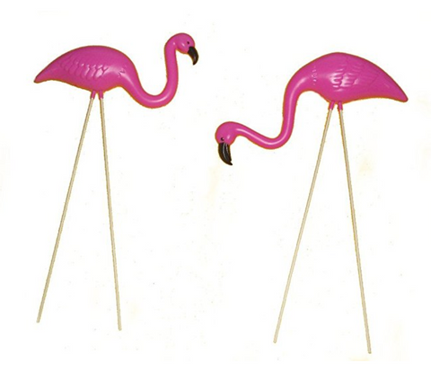 Small Pink Flamingo Lawn Ornaments