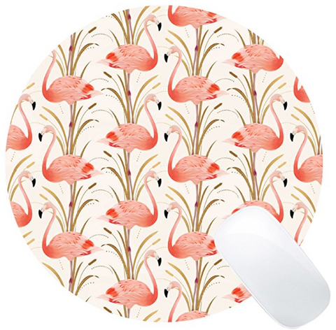 Flamingo Art Mouse Pad