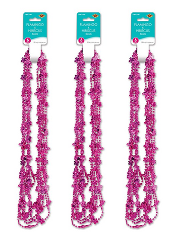 Flamingo and Hibiscus Party Beads