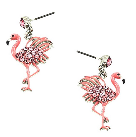 Pink Flamingo Stud Earrings