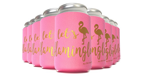Flamingo Cooler Sleeves