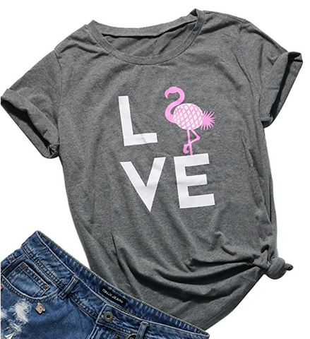 Love Pineapple Flamingo T-Shirt