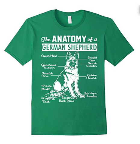 The Anatomy Of A German Shepherd Shirt