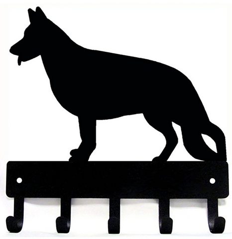 German Shepherd Key Rack & Dog Leash Hanger
