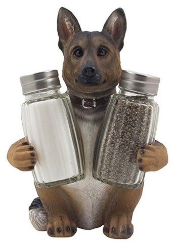 German Shepherd Salt and Pepper Shaker Set