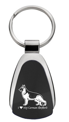 I Love German Shepherd Keychain
