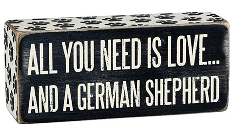 German Shepherd Box Sign