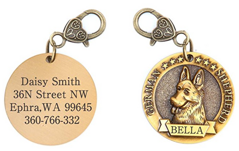 Personalized German Shepherd Dog Tag