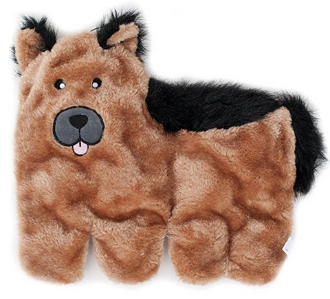 Squeaker No Stuffing German Shepherd Plush Dog Toy