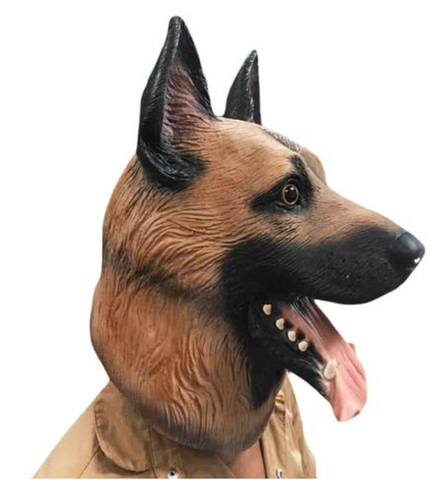 German Shepherd Head Full Face Mask
