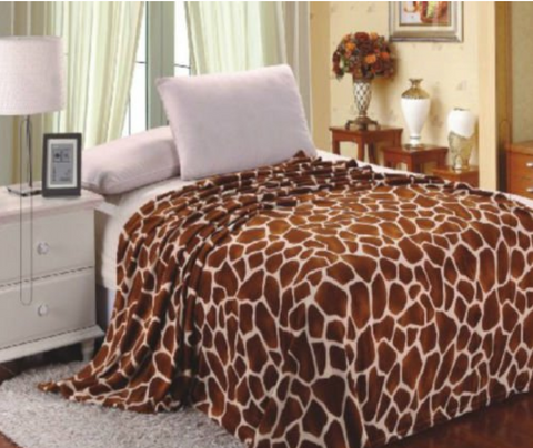 Giraffe Animal Print Blanket