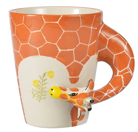 Handmade Hand Painted Giraffe Coffee Mug