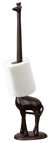 Cast Iron Giraffe Toilet Paper Holder