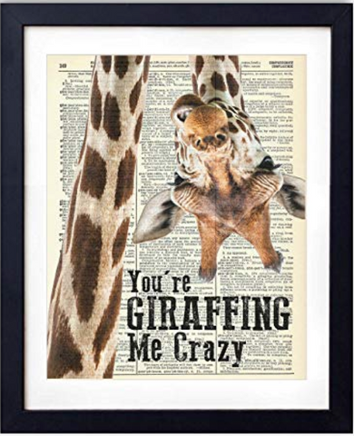 You're Giraffing Me Crazy Dictionary Art