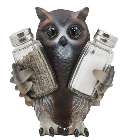 Owl Glass Salt & Pepper Shakers