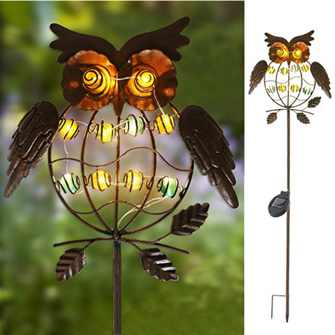 Metal Owl LED Decorative Garden Lights