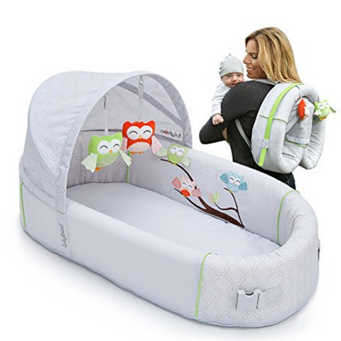 Bassinet to-Go Folds Into Backpack