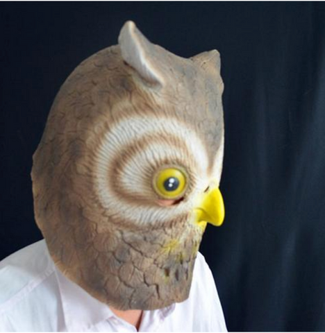 Latex Owl Head Halloween Mask