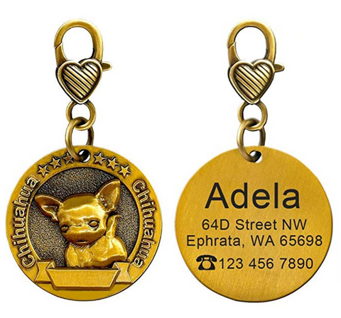 Chihuahua Custom Engraved Dog ID Tags