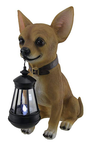 Chihuahua Statue And Led Lantern