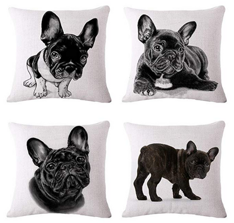 French Bulldog Throw Pillow Covers