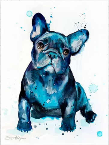 French Bulldog watercolor painting