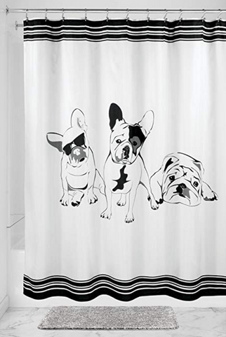 French Bulldog Fabric Shower Curtain