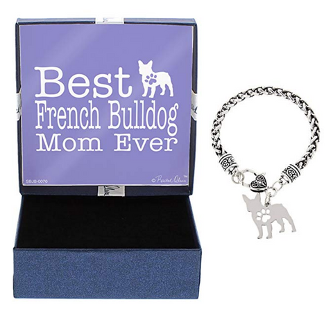 Best French Bulldog Mom Ever Bracelet and Jewelry Box