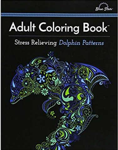 Adult Coloring Book: Stress Relieving Dolphin Patterns