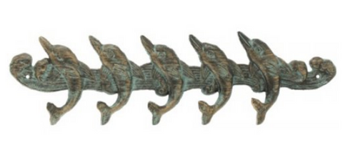 Dolphins Wall Hook Rack