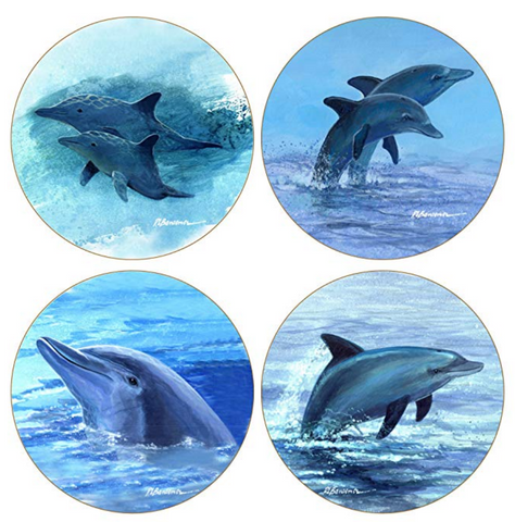 Absorbent Dolphin Coasters