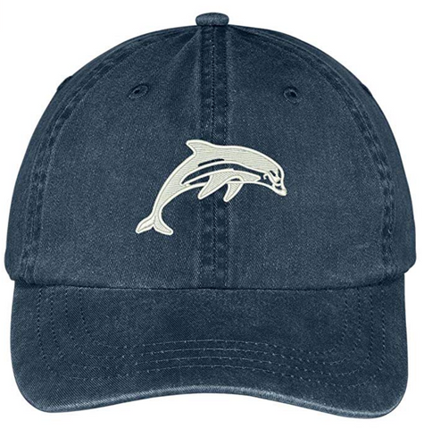 Dolphin Washed Dad Hat