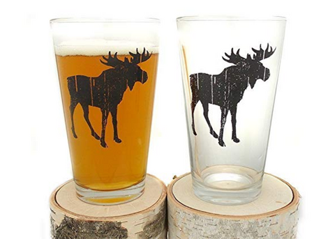 Rustic Moose Beer Glasses