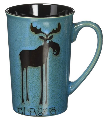 Tall Alaskan Leggy Moose Coffee Mug