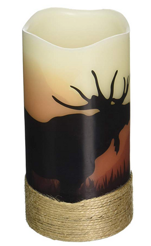 Moose  Wilderness Silhouette LED Candles