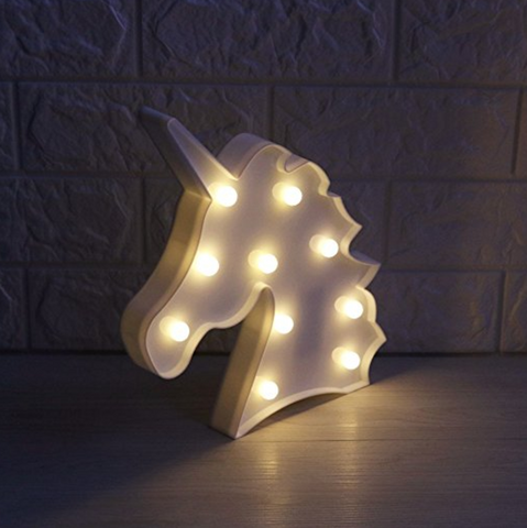 Unicorn Marquee Battery Light with 10 Warm White LEDs Home Decoration