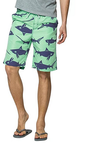 Shark Printed Summer Beach Surfing Board Shorts