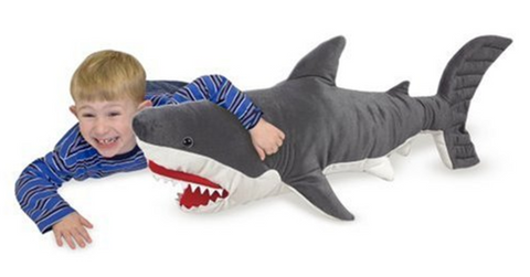 Giant Shark - Lifelike Stuffed Animal (over 3 feet long)