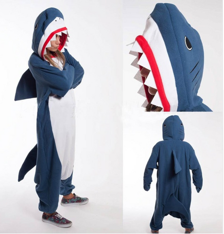 Adult Shark Pajama Onesie
