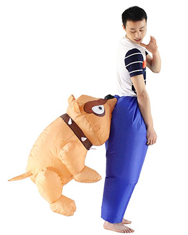 Inflatable Bull Dog Biting Butt Halloween Costume