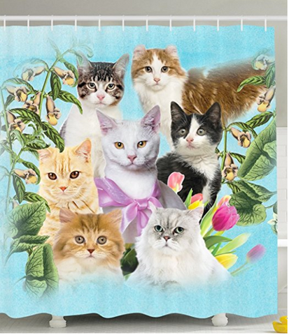 Cat Shower Curtain