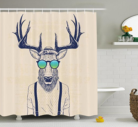 Antlers Decor Shower Curtain