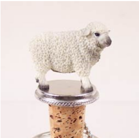 Sheep White Bottle Stopper