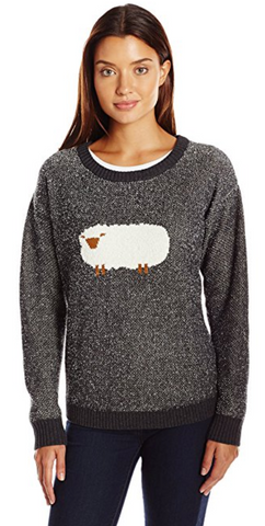 Women's Wooly Sheep Motif Sweater
