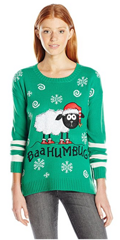 Bah Humbug Christmas Pullover Sweater with Sound