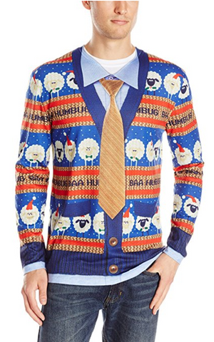 Men's Baa Humbug Ugly Christmas Sweater