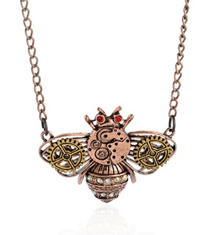Steampunk Vintage Bee Gothic Necklace